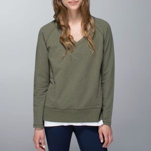 Lululemon After Asana Olive Pullover